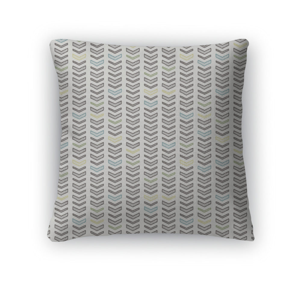 Throw Pillow, Of Handdrawn Arrows Or Chevrons