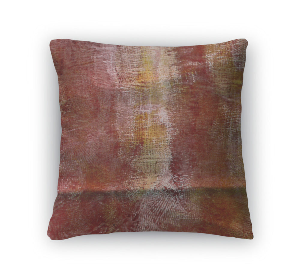 Throw Pillow, Grunge Handdrawn Watercolor