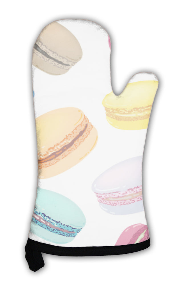 Oven Mitt, Pattern With Colorful Macaroons Cookies