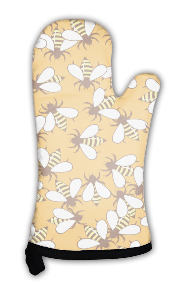 Oven Mitt, Bee Pattern