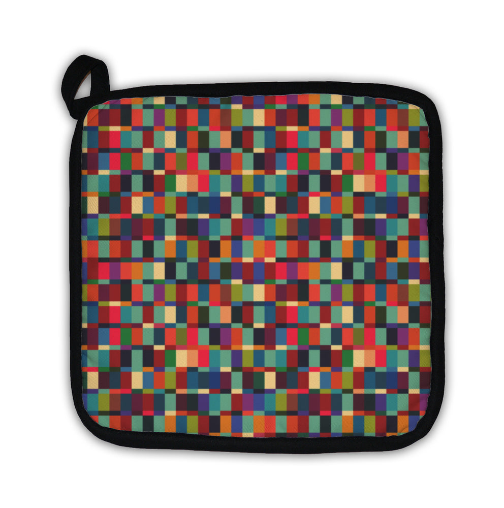 Potholder, Geometric Pattern