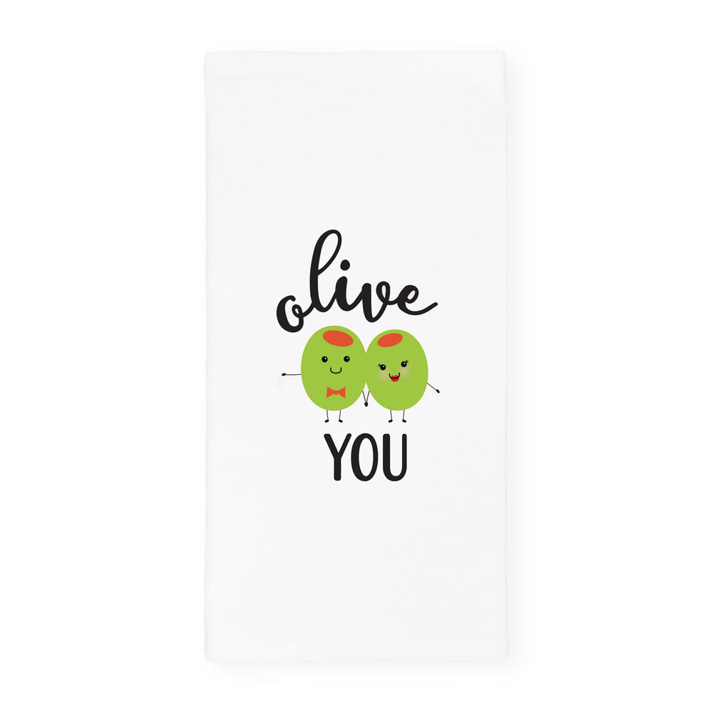 Olive You Kitchen Tea Towel