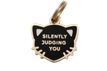 Pet ID Tag - Silently Judging You - Black