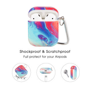 Shockproof Airpods Case with Red Flow Pattern