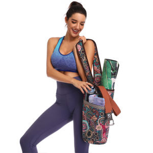 Fashion Casual Yoga Mat Carrier Canvas Fitness Sport Supplies Carry Shoulder Bag