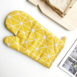 kitchen supplies microwave oven oven thickened cotton gloves BBQ