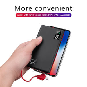 CYBORIS Quick Charge Power Bank 10000mAh Multi-function Portable Emergency charging with LED Indicate for iPhone Samsung Huawei Mibile Phone