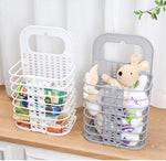 Wall-Mounted Laundry Basket Folding Storage Basket, Storage Bins Space Saving with Handle for Organizing Home Clothes Towels and Toys