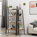 4-Tier Industrial Ladder Shelf