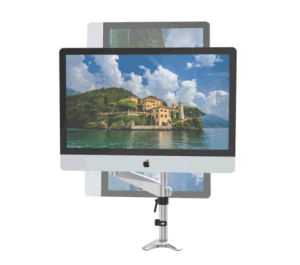 Computer Monitor Arm, Height Adjustable Single Monitor Mount For VESA 15-27 Inch Screens, Articulating Full Motion With Gas Spring