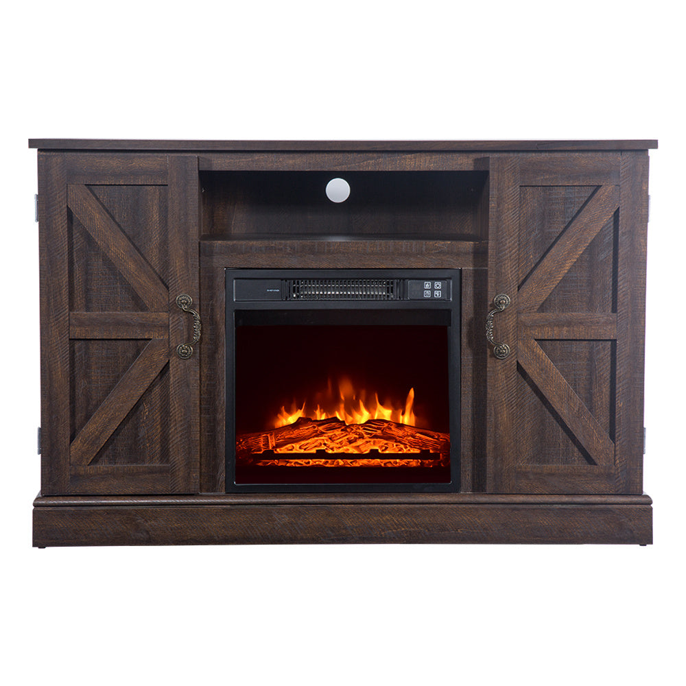 Brown Fireplace TV Cabinet