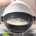 9-in-1 Multi-function Magic Rotate Vegetable Cutter with Drain Basket