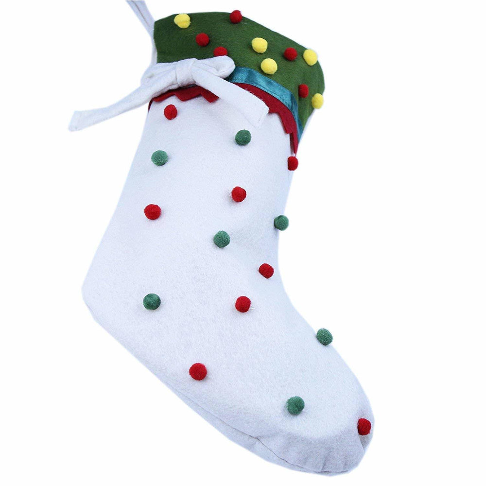 Free Shipping 3pcs/lot Colorful Candy Dots Decor Christmas Stocking Cartoon Hanging Socks for Christmas Decor