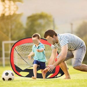 Foldable Pop-up Soccer Goal Outdoor Portable Children's Soccer Net, Portable Kids Soccer Net, Kids Soccer Goal Perfect for Indoor & Outdoor Sports and Practice