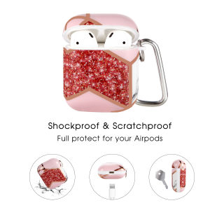Airpods Case with Red Flow Pattern,OLEBADN Hard and Shockproof Cover for Men Women and Girls, 5 in 1 Accessory Sets Compatible for Air pod 2 and 1,Front LED Visible
