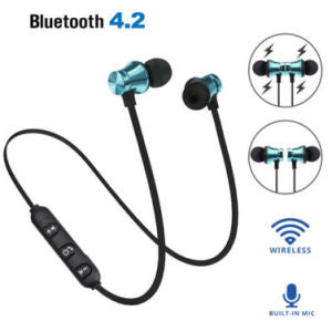 Magnetic In-Ear Stereo Headset Earphone Wireless Bluetooth 4.2 Headphone Gift