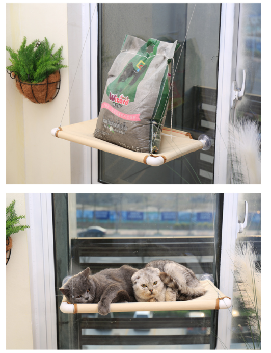 Small Pet Kitty Large Cat Dog Wall Ledge Patio Enclosures Outside Bed Hammock Seat Sil Mounted Cat Window Perch