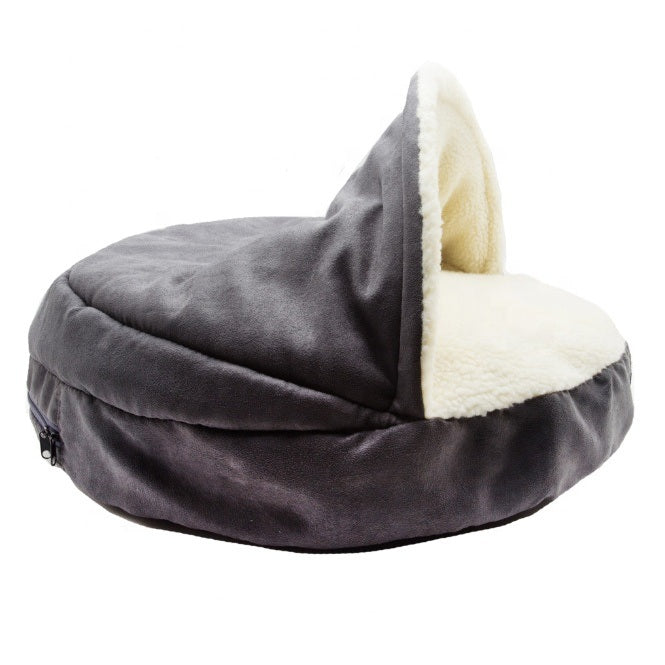 Manufacture Pet Accessories Washable Cozy Snoozer Luxury Cat Pet Bed Large Dog Cave Bed