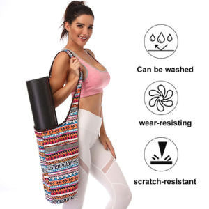 Bohemian Canvas Fitness Mat and Gear Shoulder Bag
