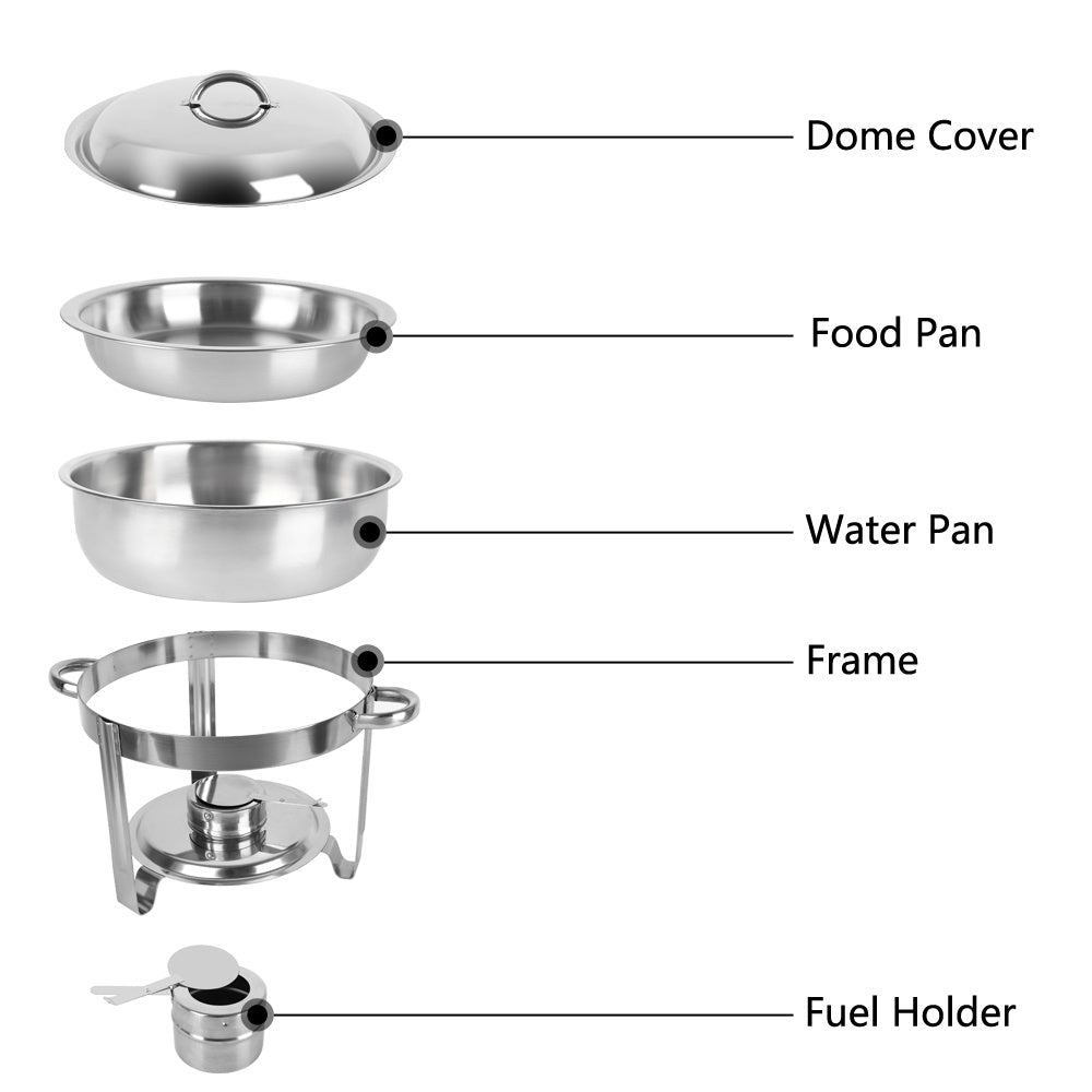 Single Pot Stainless Steel Round Buffet Stove