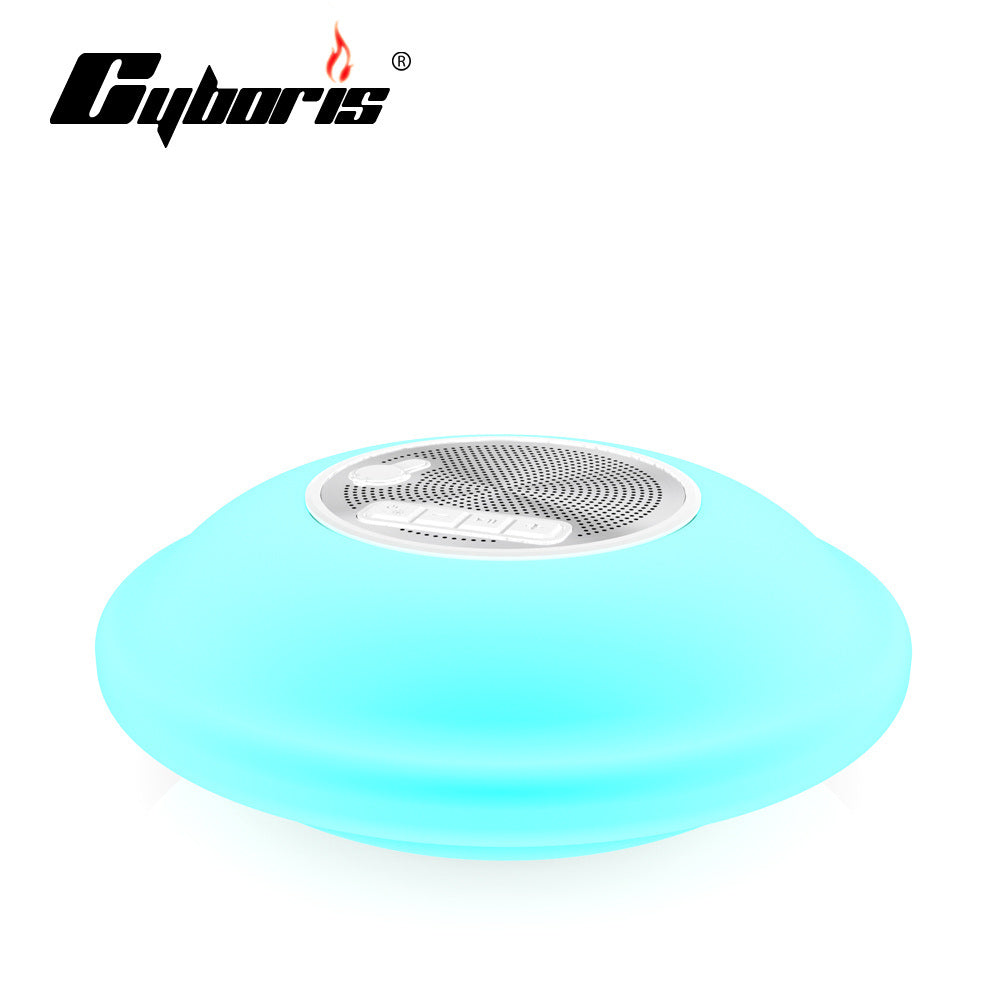Bluetooth Waterproof Floating Pool Speaker and LED Light - USB Rechargable
