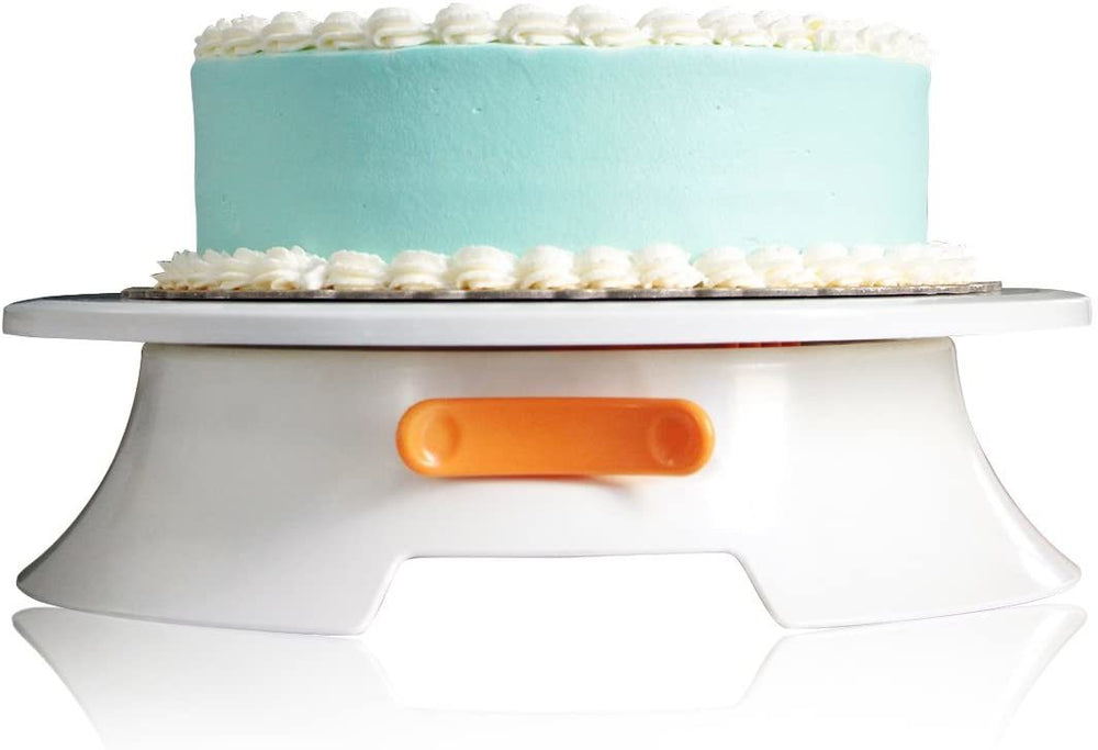 Cake Turntable with Lock Switch and Scale Mark