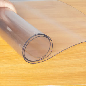 "Easy Glide - 36"" x 48"" Clear PVC Carpet Protective Mat For Rolling Chair"