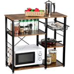 3-Tier Kitchen Microwave Stand Storage Cart