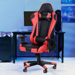 Free shipping Gaming Chair Office Chair High Back Computer Chair PU Leather Desk Chair PC Racing Executive Ergonomic Adjustable Swivel Task Chair with Headrest and Lumbar Support