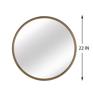 Black Round Wall Mirror 24 Inch Large Round Mirror Metal Black Round Mirror For Wall