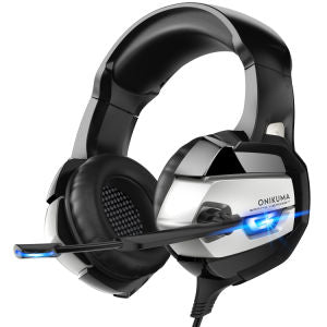 ONIKUMA PS4 Headset -Xbox One Headset Gaming Headset Noise Canceling Gaming Headphones with Mic & LED Light for PS4,Playstation,Xbox One