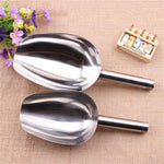 Multipurpose 2 PCS Stainless Steel Small and Large Ice Scooper for Freezer Ice Machine Maker Candy Scoop Flour Spoon Shovel Ice Cream Scoop Antique Ice Cream Scoop Coffee Bean Scoop Rice Shovel