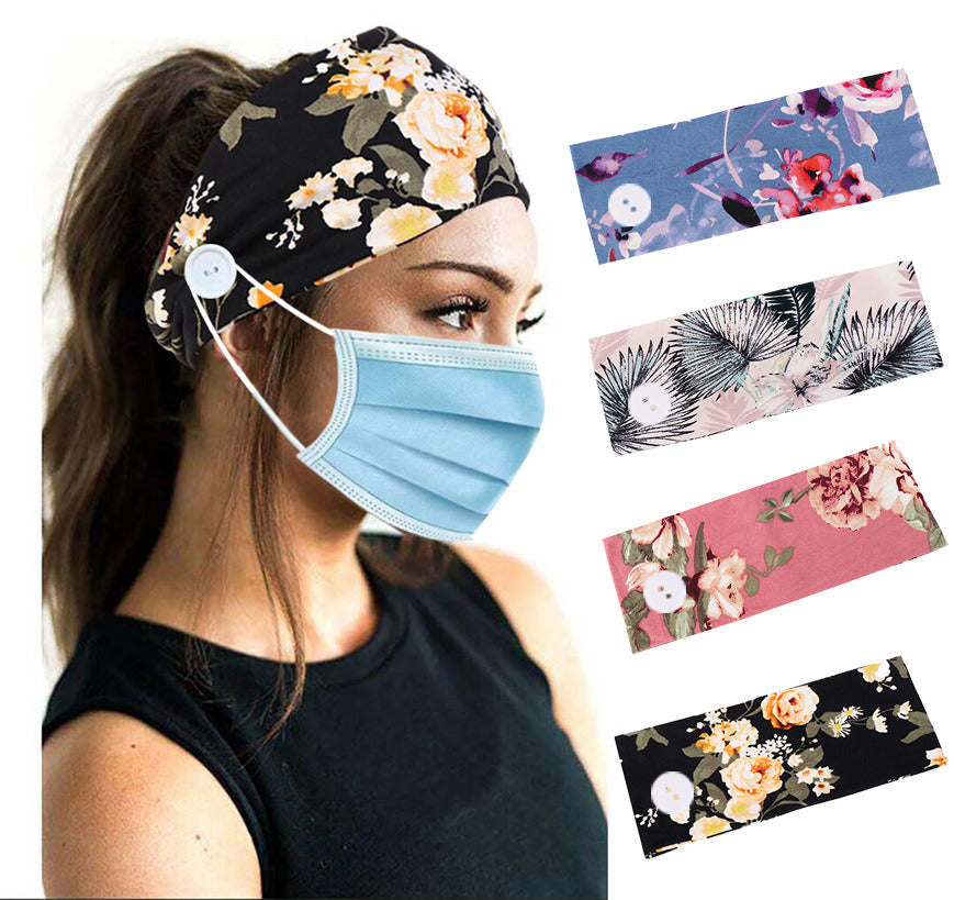 Washable Reusable Headband - with Facemask Holder