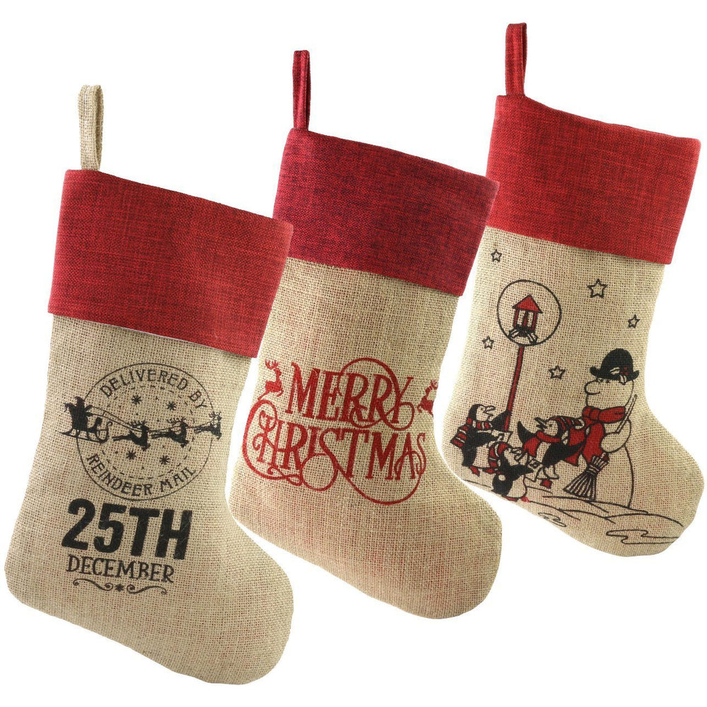 Set of 3 Embroidered Stockings