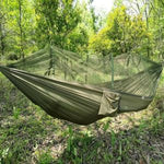 Free shipping Portable Camping Hammock with Net,Storage Bag Nylon Lightweight for Yard Outdoor