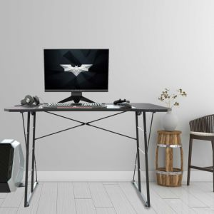 Gaming Desk Table Workstation Desk PC Stand Shelf Keyboard stand Power Strip with USB Cup Holder