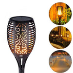Wireless Waterproof LED Solar Lights Dancing Flames Flickering Torches Lantern (2 pack)