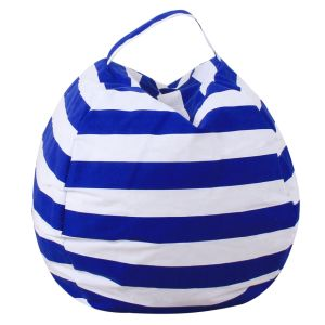 Stuffed Animal Bean Bag Storage Chair for Kids - Size 38inch (Blue)
