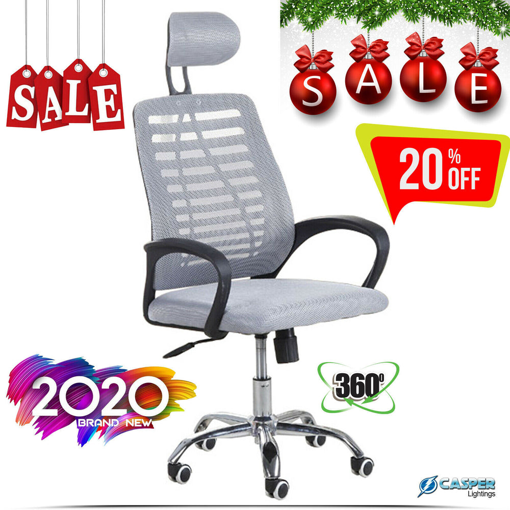 For UK Only  Luxury Ergonomic Mesh Office Chair Adjustable Swivel Executive High Back Chair For UK Only
