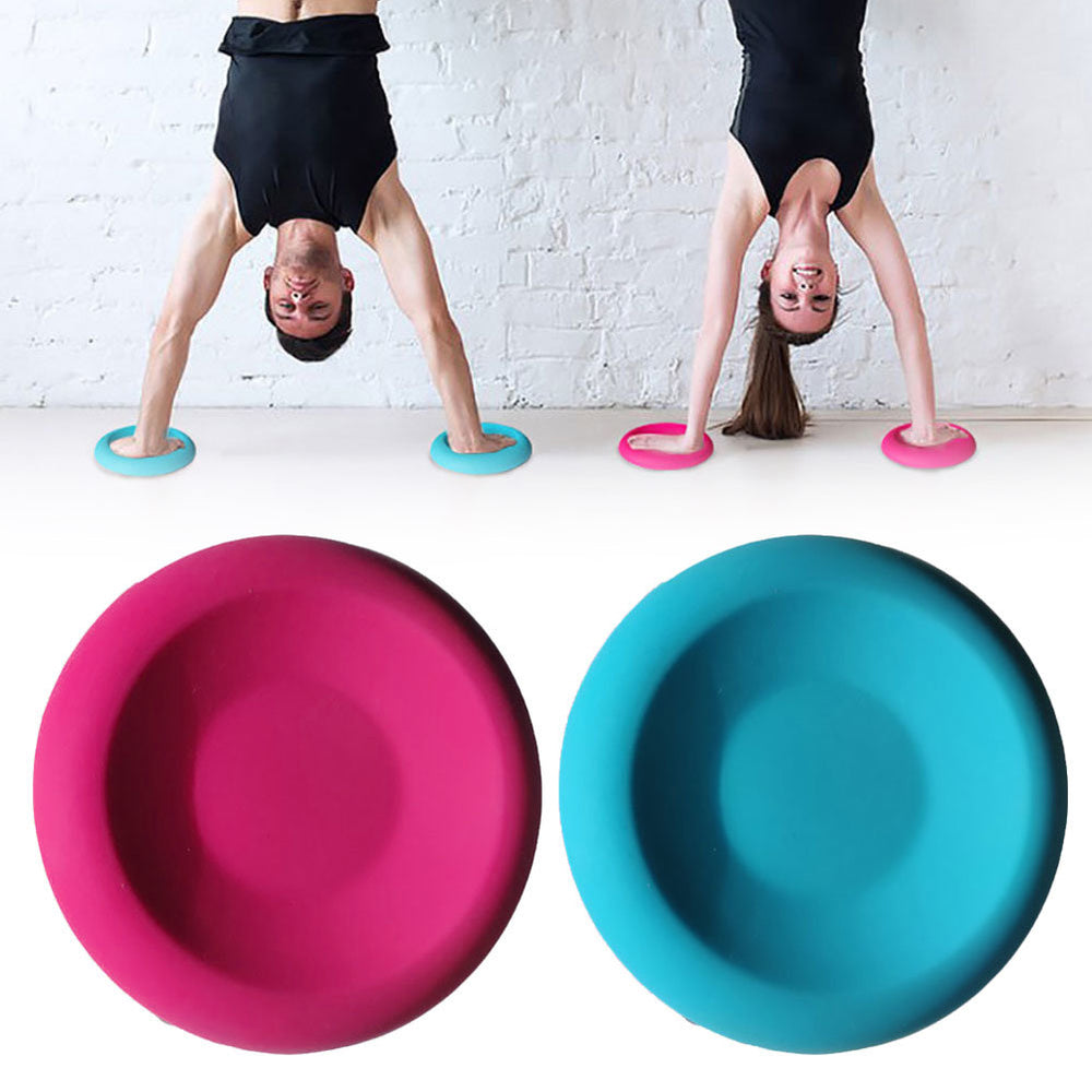 Knee Elbow Support Round Pad Yoga Fitness Balance Cushion Silicone Non-Slip Mat