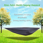 Portable and durable compact nylon fabric two-person travel camping hammock
