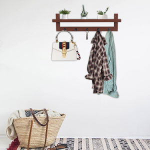Wall-Mounted Coat Rack Shelf