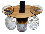 Wooden Wine Glass Caddy - Two Glass