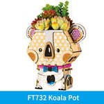 Robotime DIY Plant Flower Pots 3D Wooden Puzzle Home Decor Assembly Model Building Kit Toys for Children Audlt Drop Shipping