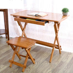 Children's Natural Bamboo Folding Desk