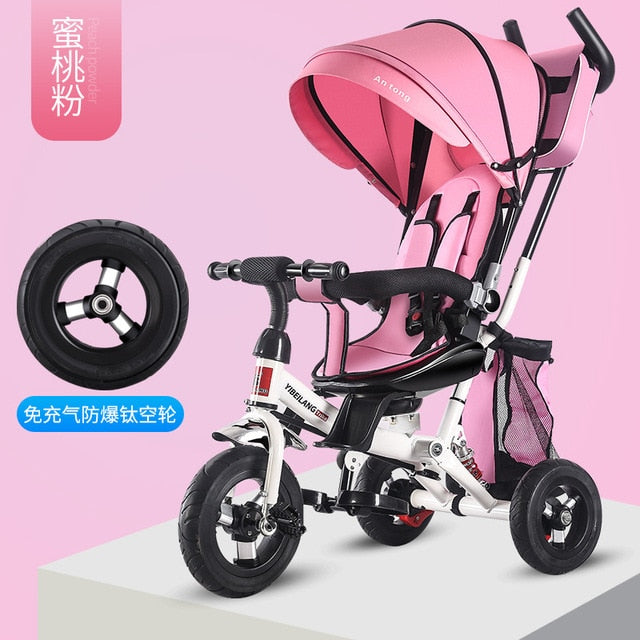4-In-1 Infant Stroller, Toddler Stroller, Tricycle and Bicycle