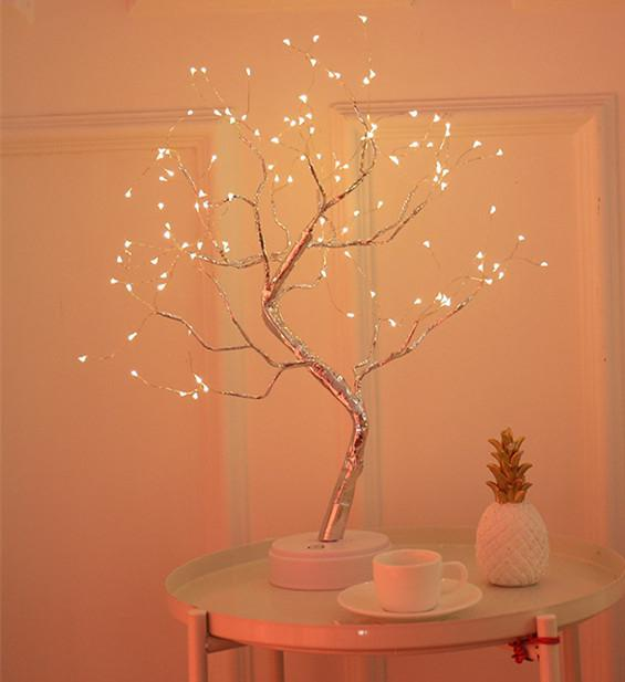 Tree Shape LED Light with Touch Sensor Switch