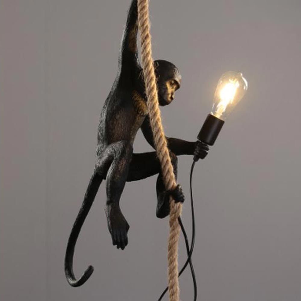 Handmade Resin Monkey Chandelier Lighting