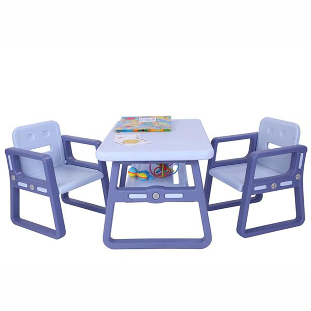 Kids Table and Chairs Set - Toddler Activity Chair Best for Toddlers Lego, Reading, Train, Art Play-Room  2 Children Seats