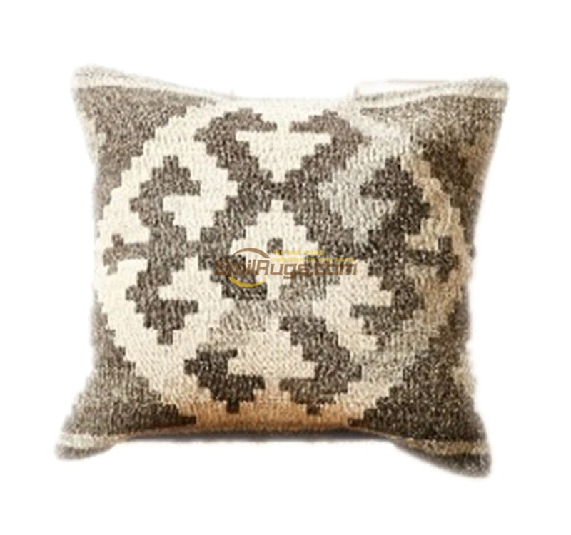 Hand Woven Wool Aztec Pillow Cover